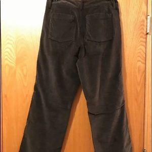 NEW Eddie Bauer Stretch Soft Velvet Gray Pants